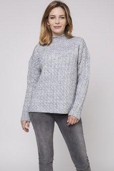 Bird - Monochromatyczny sweter z półgolfem
