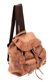 GAWOR - Skórzany plecak jasny brąz moro