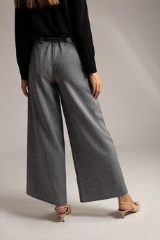 SOVL - Spodnie szerokie w jodełkę