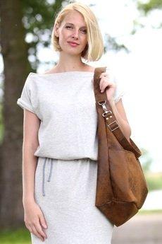Karolina Audycka - Brązowa torba worek z kieszeniami na ramię