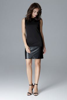 LENITIF - Sukienka L025 Czarny