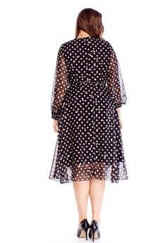 Bird - tiulowa sukienka z wiązaniem w pasie
