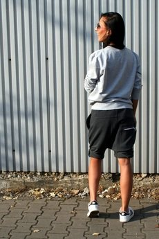 Button - SHORT PANTS 5 BUTTONS UNISEX black/czarne