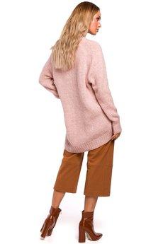 MOE - M468 Asymetryczny sweter z półgolfem