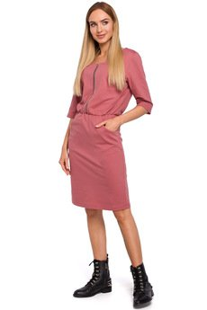 MOE - M476 Dresowa sukienka z zamkiem