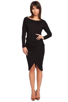 Be - B003 Sukienka z oryginalną zakładką na przodzie