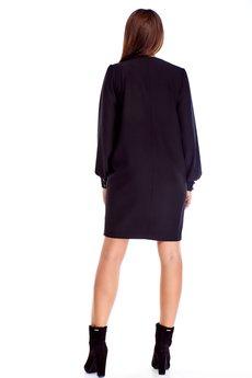 Bird - prosta sukienka z bufiastymi rękawami