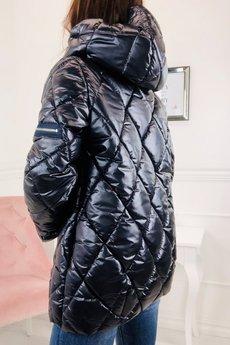 Bird - pikowana metaliczna kurtka z kapturem