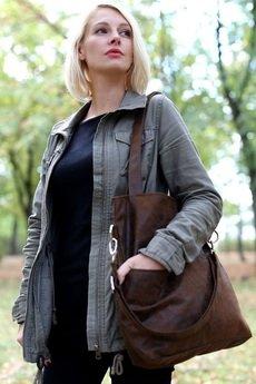 Karolina Audycka - Brązowa torba z zamszu eko