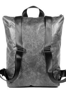 CZARNY - Plecak z czarnego tyveku