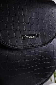 MANZANA - Duża listonoszka kuferek SKÓRA KROKODYLA Manzana