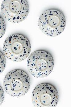 emwu studio - Miska w kobaltowe chlapki