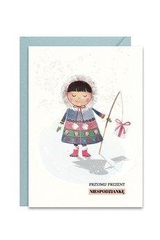 PAPERWORDS - Zimowa kartka z Eskimoską na święta