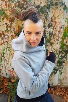 Slogan ubrania ekologiczne, etyczne i wegańskie - The Bassman Bluza damska z bawełny organicznej