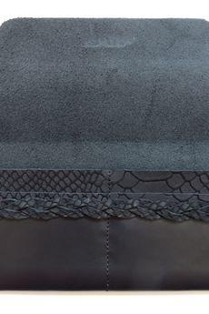 Tenaro - Portmonetka z paskiem z wzorem skóry węża