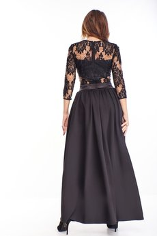 Bird - wieczorowa sukienka maxi z koronkową górą