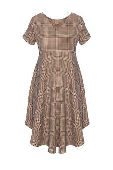 DOROTHÉ - Sukienka w kratkę odcinana pod biustem