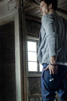 Button - SPODNIE 2 BUTTONS JEANS PANTS UNISEX niebieskie