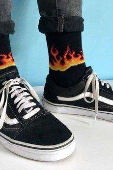 4LCK - 4LCK Skarpety street wear w płomienie, ogień, Fire