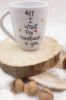 """Make a wish - Kubek świąteczny """"All I want for christmas is you"""""""