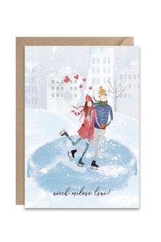 PAPERWORDS - Kartka z zakochanymi Łyżwiarzami