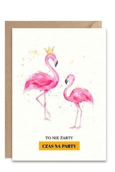 PAPERWORDS - Kartka z różowymi flamingami