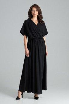 LENITIF - Sukienka L055 Czarny