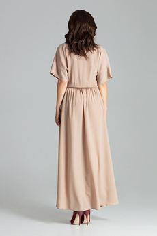 LENITIF - Sukienka L055 Beż