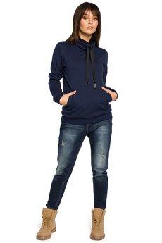 Be - B055 Bluza z wysokim kołnierzem