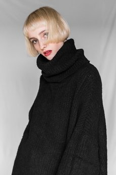 The Hive - ROLL NECK JUMPER IN BLACK