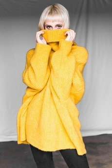 The Hive - ROLL NECK JUMPER IN HONEY