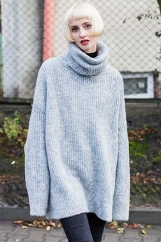 The Hive - ROLL NECK JUMPER IN GREY