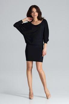 LENITIF - Sukienka K262 Czarny
