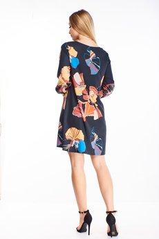 Bird - prosta sukienka z dekoltem w serek
