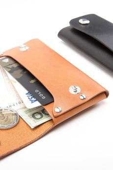 Black Tree - Skórzany, mały portfel na karty i monety - napy