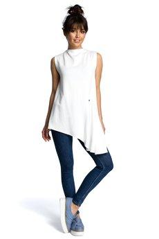 Be - B069 Asymetryczna bluzka bez rękawów