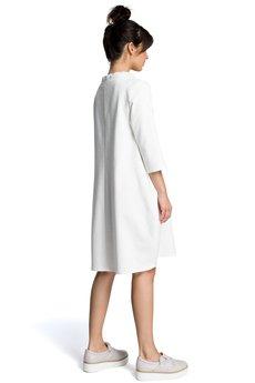 Be - B070 Dresowa sukienka z wiązaniem pod szyją