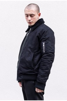 The Hive - AVIATOR SHERPA BOMBER JACKET IN SUEDE L.E.