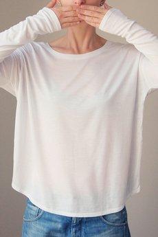 ONE MUG A DAY - Wąski rękaw biały bez nadruku
