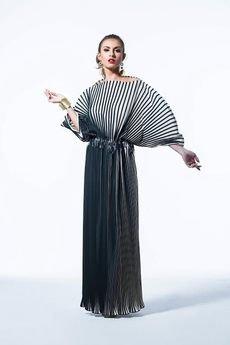 my image art - Plisowana sukienka w pasy Fulki