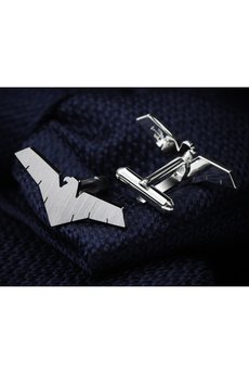 FEINFEIN - Personalizowane srebrne spinki do mankietów ORZEŁ