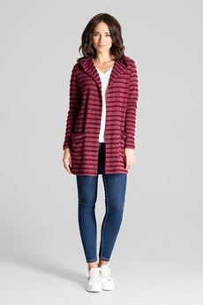 LENITIF - Sweter L070 Bordo