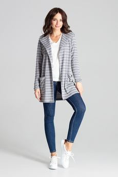 LENITIF - Sweter L070 Szary