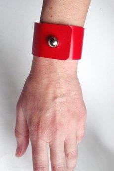Mikashka - Bransoleta skórzana czerwona ferrari
