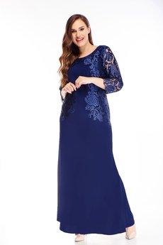 Bird - sukienka maxi z haftowaną górą