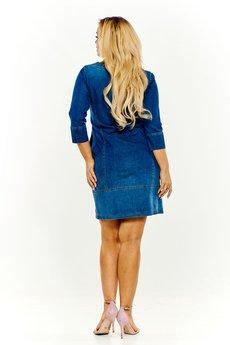 Bird - Ołówkowa sukienka jeansowa