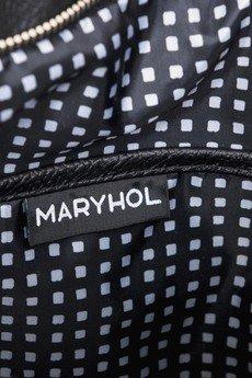 MARYHOL - TOREBKA SHOPPERKA CZARNA Z ŁAŃCUSZKIEM
