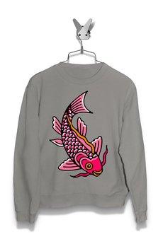 FailFake - Bluza Różowa Ryba Koi Damska