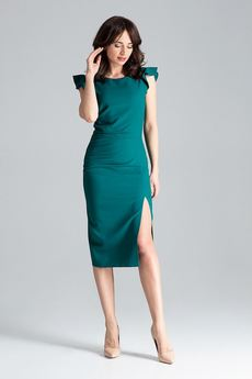 LENITIF - Sukienka L034 Zielony