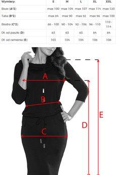 numoco - 44-3 Sukienka sportowa z golfem - grafit + napisy